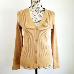 A New Day Tan V Neck Cardigan
